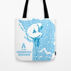 A is for Abominable Snowman Tote Bag
