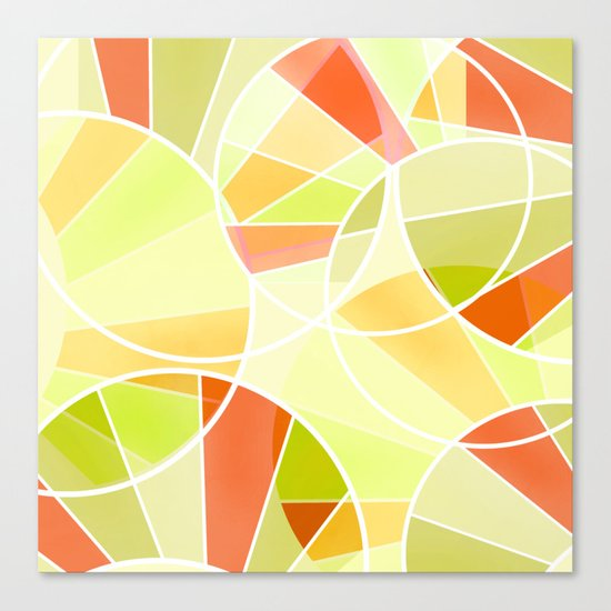Yellow-red green summer pattern . Canvas Print