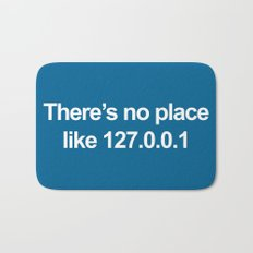 No Place Like 127.0.0.1 Geek Quote Bath Mat