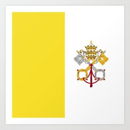 Vatican City Holy See flag emblem Art Print