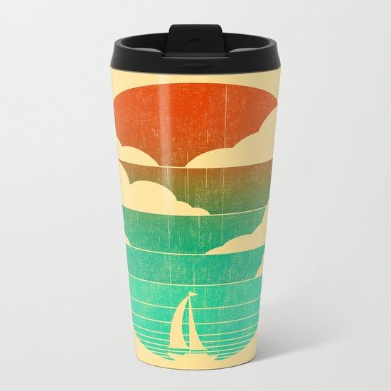 Go West (sail away in my boat) Metal Travel Mug