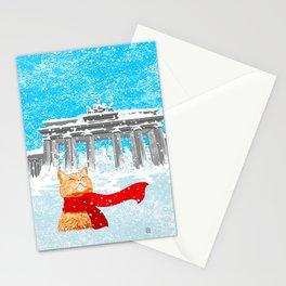 Berlin Snowcat Stationery Cards