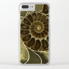 Fossil in brown tones Clear iPhone Case