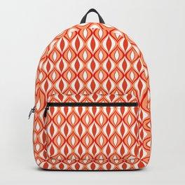 Mid-Century Modern Diamonds, Orange and White Backpack