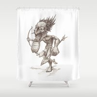 warrior Shower Curtains featuring Warrior by Shane Acuff
