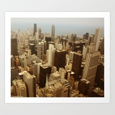 Chicago Roofs Art Print