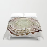 ombre Duvet Covers featuring Tree Rings – Watercolor Ombre by Cat Coquillette