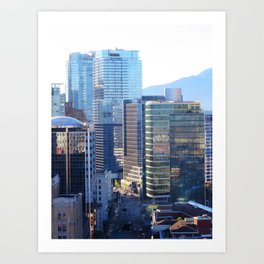 Glass Towers Art Print