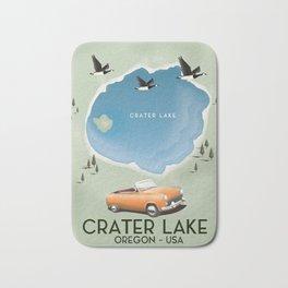 Crater Lake Oregon Travel Poster Bath Mat
