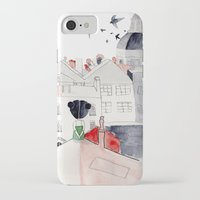 madrid iPhone & iPod Cases featuring Madrid by sole silbando