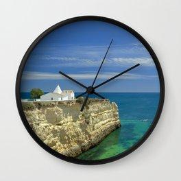 Chapel on the cliffs, Portugal Wall Clock