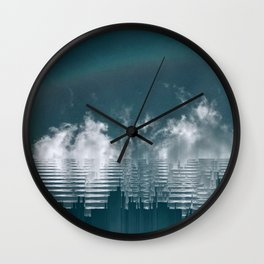 Icing Clouds Wall Clock