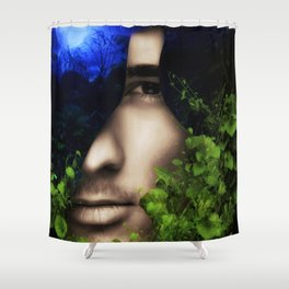 When He looked into Paradise - It was Midnight Fx  Shower Curtain