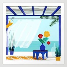 Tropical Villa Ocean View Kunstdrucke