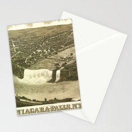 NIAGARA FALLS New-York city old map Father Day art print poster Stationery Cards