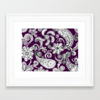 burgundy Framed Art Prints featuring Burgundy by Marcela Caraballo