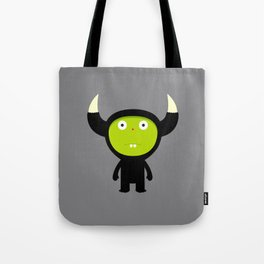 Green faced call of the wild child character Tote Bag