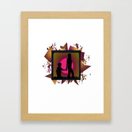 Messy family Framed Art Print
