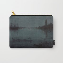 Nocturne in Blue and Silver - The Lagoon, Venice by James McNeill Whistler Carry-All Pouch