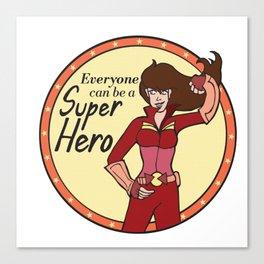 Everyone can be a Superhero Canvas Print