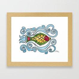 Buster the Sea Bass Framed Art Print