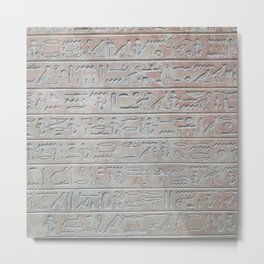 Heiroglyphs Metal Print