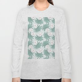 Fern-tastic Girls in Sage Green Long Sleeve T-shirt
