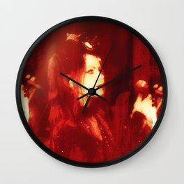 Red Monica  Wall Clock