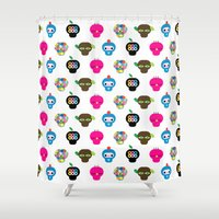 ufo Shower Curtains featuring Ufo by Plushedelica