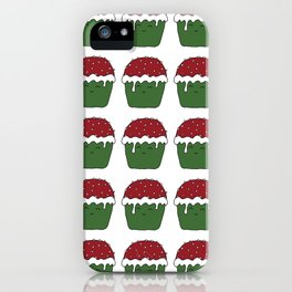 Christmas cupcakes iPhone Case