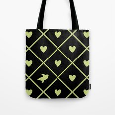 Always Near (from the Valentine set) (colors: midnight lime) Tote Bag