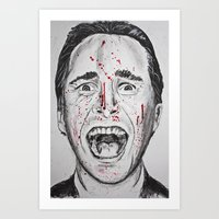 american psycho Art Prints featuring American Psycho by Haley Erin