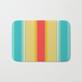 sandcastle deckchair stripe Bath Mat