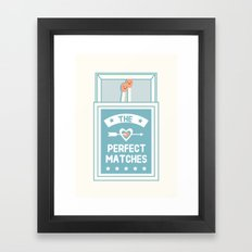 The Perfect Matches Framed Art Print