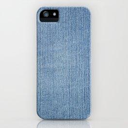 Faded Blue Denim iPhone Case