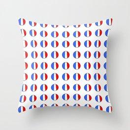 Flag of France 15- France, Français,française, French,romantic,love,gastronomy Throw Pillow