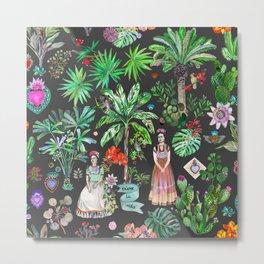Frida's Night Garden Metal Print