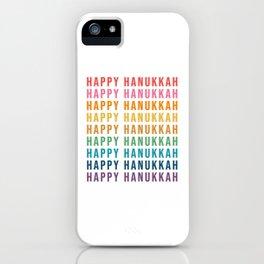 Rainbow Hanukkah iPhone Case
