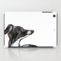 greyhound iPad Cases featuring Italian Greyhound by James Peart