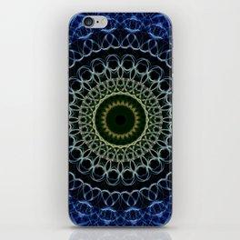 Mandala in deep blue and gold tones. iPhone Skin
