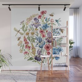 Wildflowers & Insects Wall Mural