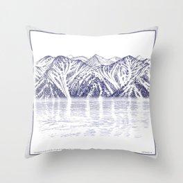 TURNAGAIN ARM AND THE CHUGACH RANGE ON THE COOK INLET ALASKA Throw Pillow