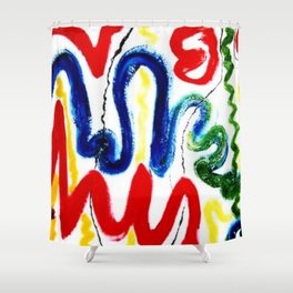 EXCITEMENT !     By Kay Lipton Shower Curtain