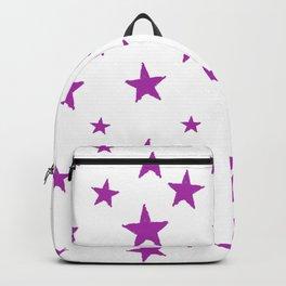 Hand-Drawn Stars (Purple & White Pattern) Backpack