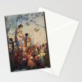 """""""Fairy Lights"""" by Hilda Miller 1915 Stationery Cards"""