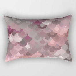 Pink Scales Rectangular Pillow