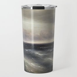 The Black Sea by Ivan Aivazovsky. Travel Mug