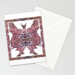 Horned Man V2 cut from Tree Leaf Photo 801 Fractal, with wings and hoofed feet. Stationery Cards