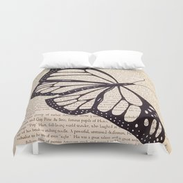 Butterfly in a Book Duvet Cover