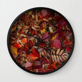 autumn leaves 3 Wall Clock